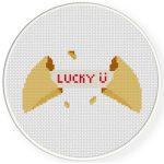 Fortune Cookie Cross Stitch Illustration