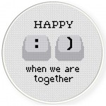 Happy When We're Together Cross Stitch Illustration