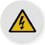 High Voltage Cross Stitch Illustration