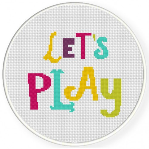 Let's Play Cross Stitch Illustration