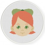 Pretty Girl Cross Stitch Illustration