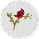 Red Robin Cross Stitch Illustration