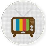Retro TV Cross Stitch Illustration