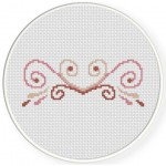 Simple Ornament Cross Stitch Illustration