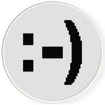 Smiley Text Cross Stitch Illustration
