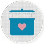 Soup Love Cross Stitch Illustration