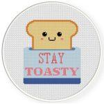 Stay Toasty Cross Stitch Illustration