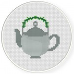 Tea Pot Cross Stitch Illustration