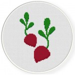 Two Beets Cross Stitch Illustration