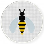 Yellow Hornet Cross Stitch Illustration
