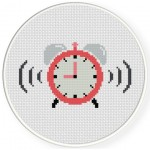 Alarm Clock Cross Stitch Illustration