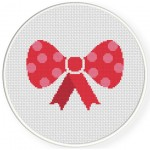 Big Bow Cross Stitch Illustration