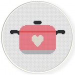 Casserole Love Cross Stitch Illustration