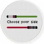Choose Your Side Cross Stitch Illustration