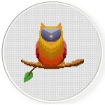 Colorful Owl Cross Stitch Illustration