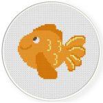 Cute Goldfish Cross Stitch Illustration