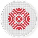 Damask Design Pattern 16 Cross Stitch Illustration