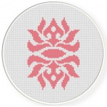 Damask Swirls Cross Stitch Illustration