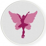 Fairy Dancer Cross Stitch Illustration