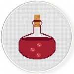Health Potion Cross Stitch Illustration