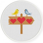 Heart Sign Cross Stitch Illustration