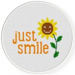 Just Smile Cross Stitch Illustration