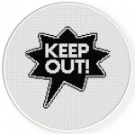 Keep Out Cross Stitch Illustration