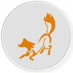 Orange Fox Cross Stitch Illustration