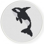 Orca Cross Stitch Illustration