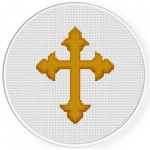 Ornate Cross Cross Stitch Illustration