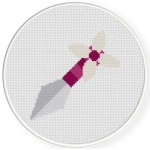 Purple Kunai Cross Stitch Illustration