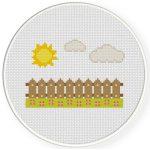 Sunny Day Cross Stitch Illustration