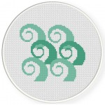 Swirls Cross Stitch Illustration
