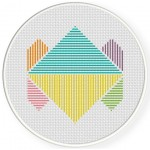Triangular Design Cross Stitch Illustration