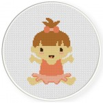 Tutu Baby Cross Stitch Illustration