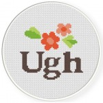 Ugh Cross Stitch Illustration
