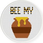Bee My Honey Cross Stitch Illustraition