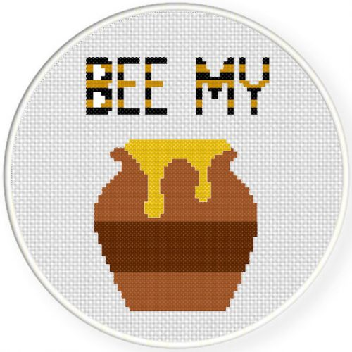 Bee My Honey Cross Stitch Illustraition