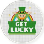 Get Lucky Cross Stitch Illustration