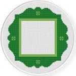 Green Frame Cross Stitch Illustration