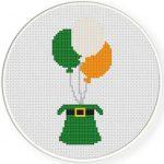 Irish Balloons Cross Stitch Illustration