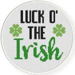 Luck o_ the Irish Cross Stitch Illustration
