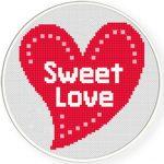Sweet Love Cross Stitch Illustraition