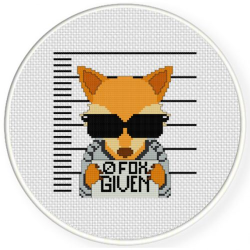 0 Fox Given Cross Stitch Illustration
