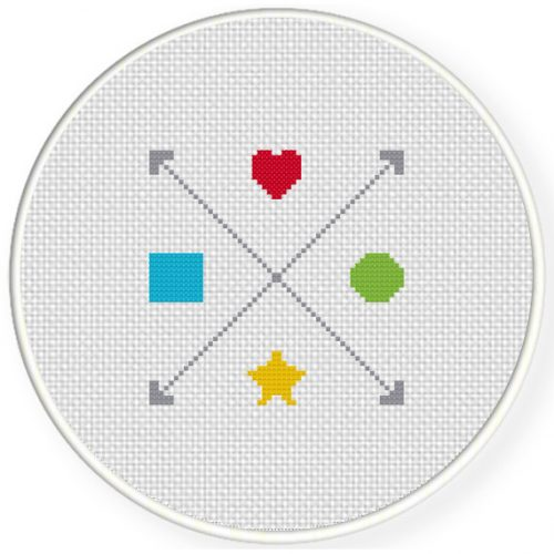 Arrows And Shapes Cross Stitch Illustration
