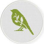Bird Foliage Cross Stitch Illustration