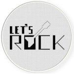 Let's Rock Cross Stitch Illustration