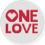 One Love Cross Stitch Illustration