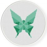 Origami Butterfly Cross Stitch Illustration
