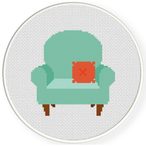 Cute Chair Cross Stitch Illustration